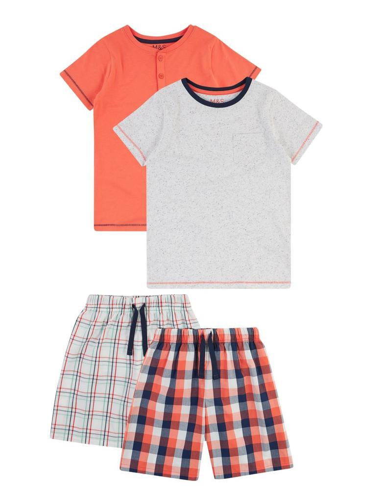 Çocuk Turuncu 2'li Ekose Pijama Seti