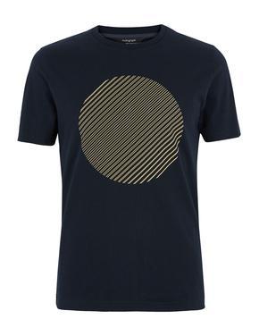 Lacivert Premium Pamuklu Kısa Kollu T-Shirt