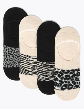 Kadın Siyah 4'lü Babet Çorabı Seti
