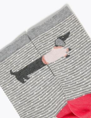 Kadın Bej 5'li Sumptuously Soft™ Soket Çorap Seti