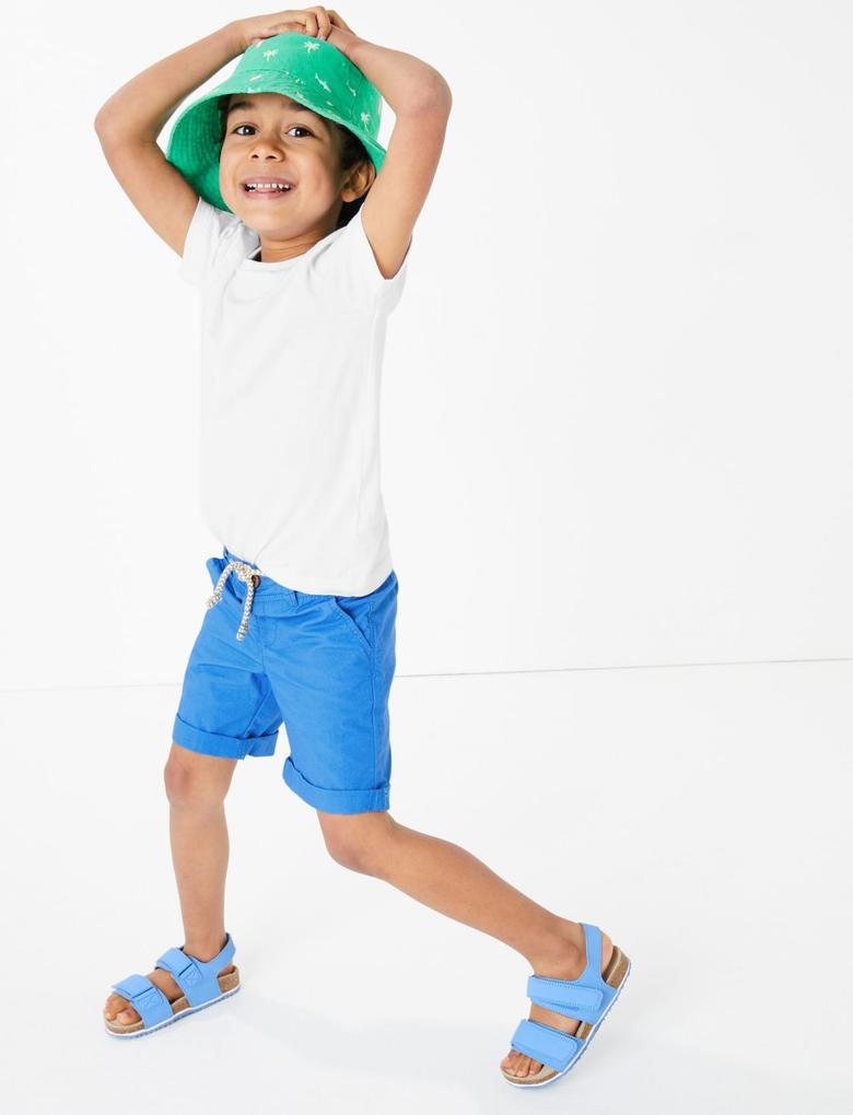 Erkek Çocuk Multi Renk 2'li Saf Pamuklu Şort Seti