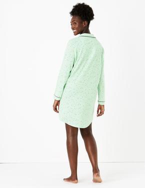 Kadın Yeşil Cool Comfort™ Desenli Gecelik
