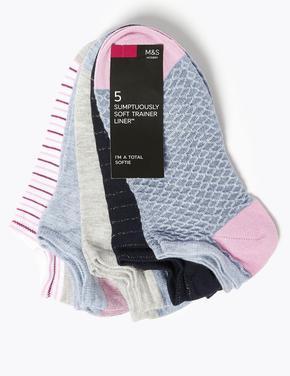 Kadın Mavi 5'li Sumptuously Soft™ Soket Çorap Seti