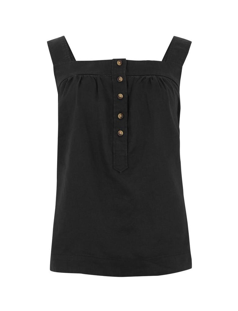 Kadın Siyah Kare Yaka Kamisol Bluz