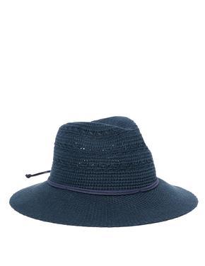 Kadın Lacivert Pamuklu Fötr Şapka