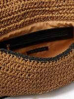 Kadın Krem Hasır Çapraz Askılı Çanta