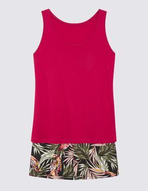 Kadın Kırmızı Desenli Pijama Takımı