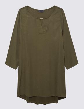 Kadın Yeşil Kısa Kollu Tunik
