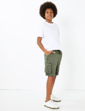 Erkek Çocuk Yeşil Cepli Utility Şort