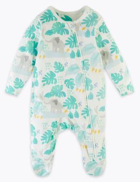 Bebek Yeşil 2'li Fil Desenli Tulum Seti