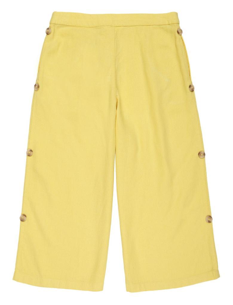 Kız Çocuk Sarı Keten Pantolon