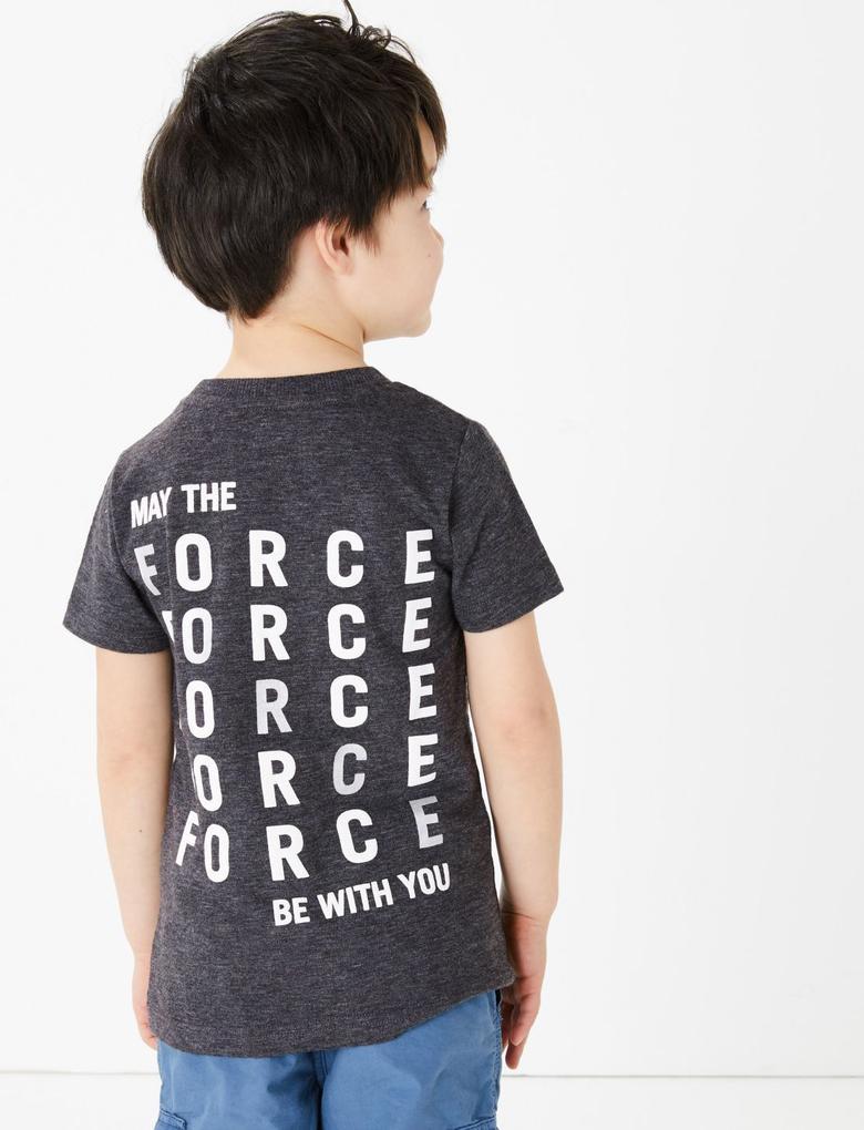 Erkek Çocuk Gri Star Wars™ Kısa Kollu T-Shirt