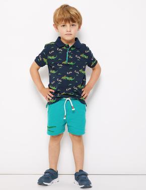 Erkek Çocuk Multi Renk Roald Dahl™ & NHM™ Timsah Desenli Şort