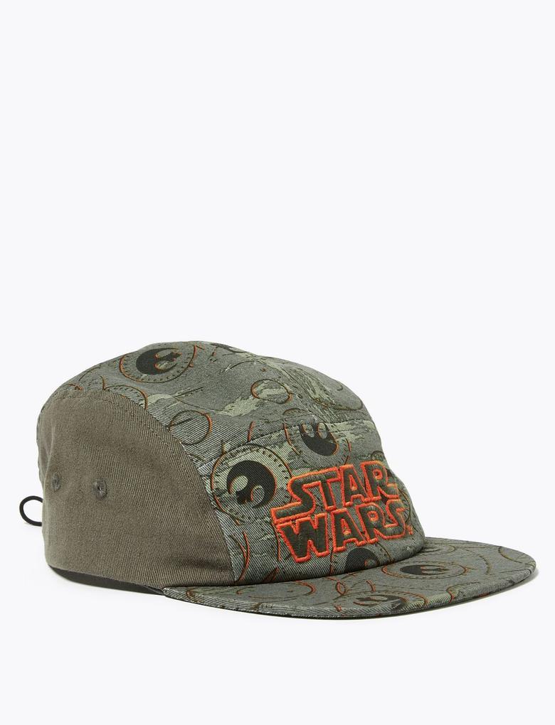 Çocuk Gri Star Wars™ Desenli Şapka