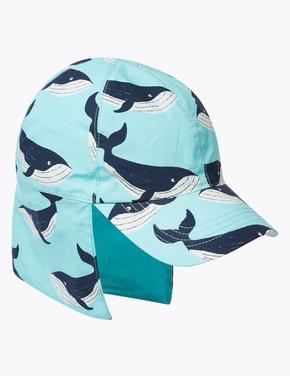 Çocuk Mavi Desenli Şapka