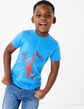 Erkek Çocuk Mavi Spider-Man™ Kısa Kollu T-Shirt