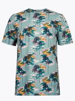 Erkek Mavi Desenli Basic T-Shirt