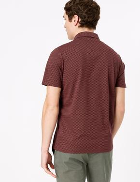 Erkek Bordo Pamuklu Polo Yaka T-Shirt