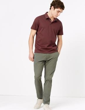 Bordo Polo Yaka T-Shirt