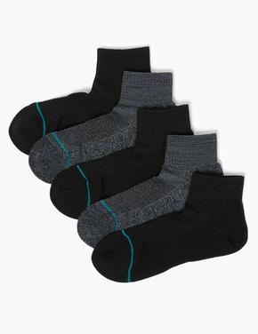 Erkek Siyah 5'li Freshfeet™ Çorap Seti