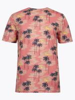 Kırmızı Desenli Basic T-Shirt