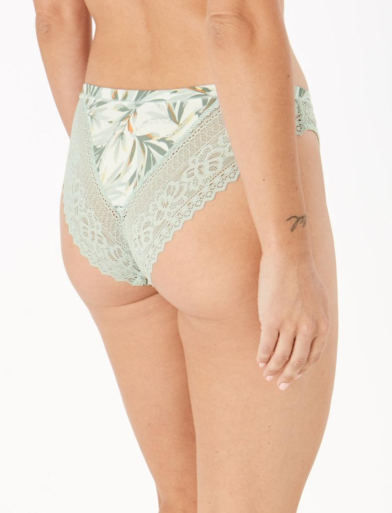 Kadın Yeşil Sumptuously Soft™ Brazilian Külot