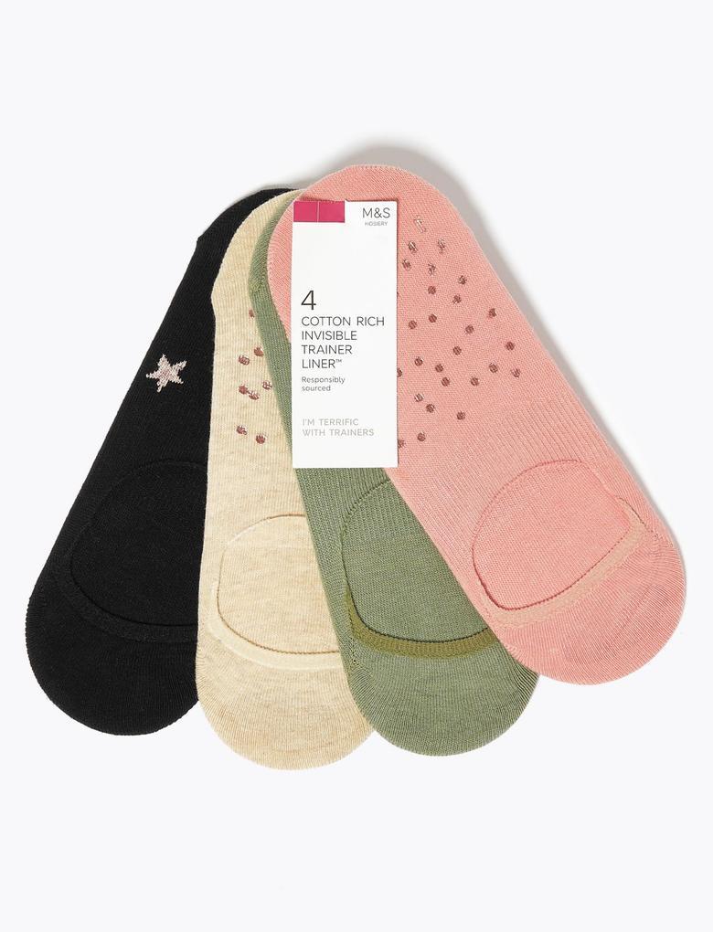 Kadın Yeşil 4'lü Babet Çorabı Seti
