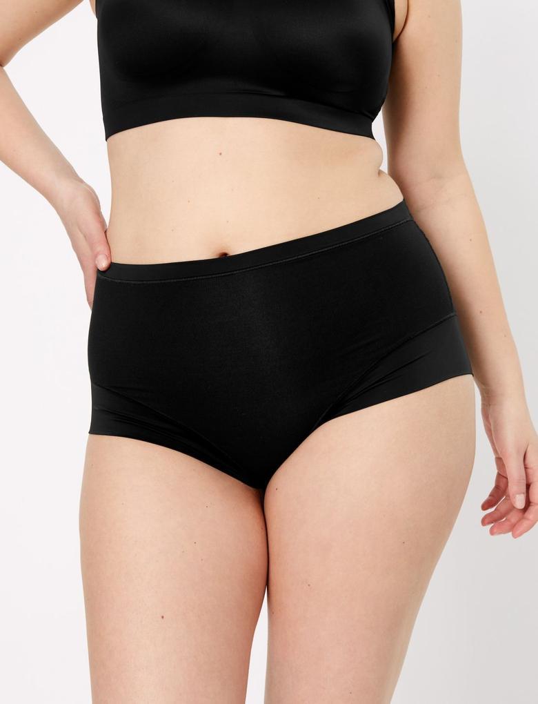 Kadın Siyah Flexifit™ Modal Full Brief Külot