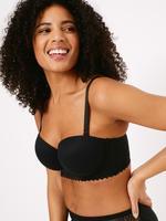 Kadın Siyah Sumptuously Soft™ Destekli Straplez Sütyen