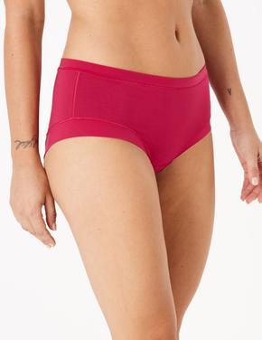 Kadın Kırmızı Flexifit™ Modal Düşük Belli Short Külot
