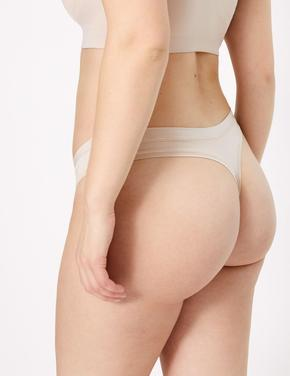 Kadın Bej Flexifit™ Modal Thong Külot