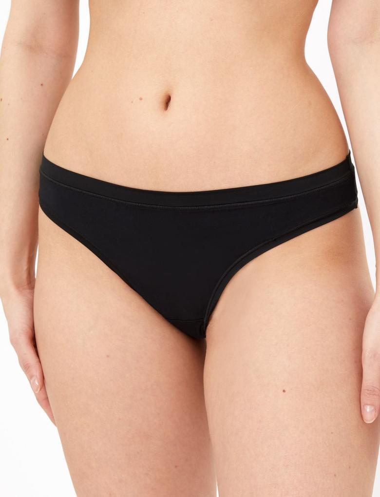 Kadın Siyah Flexifit™ Modal Thong Külot