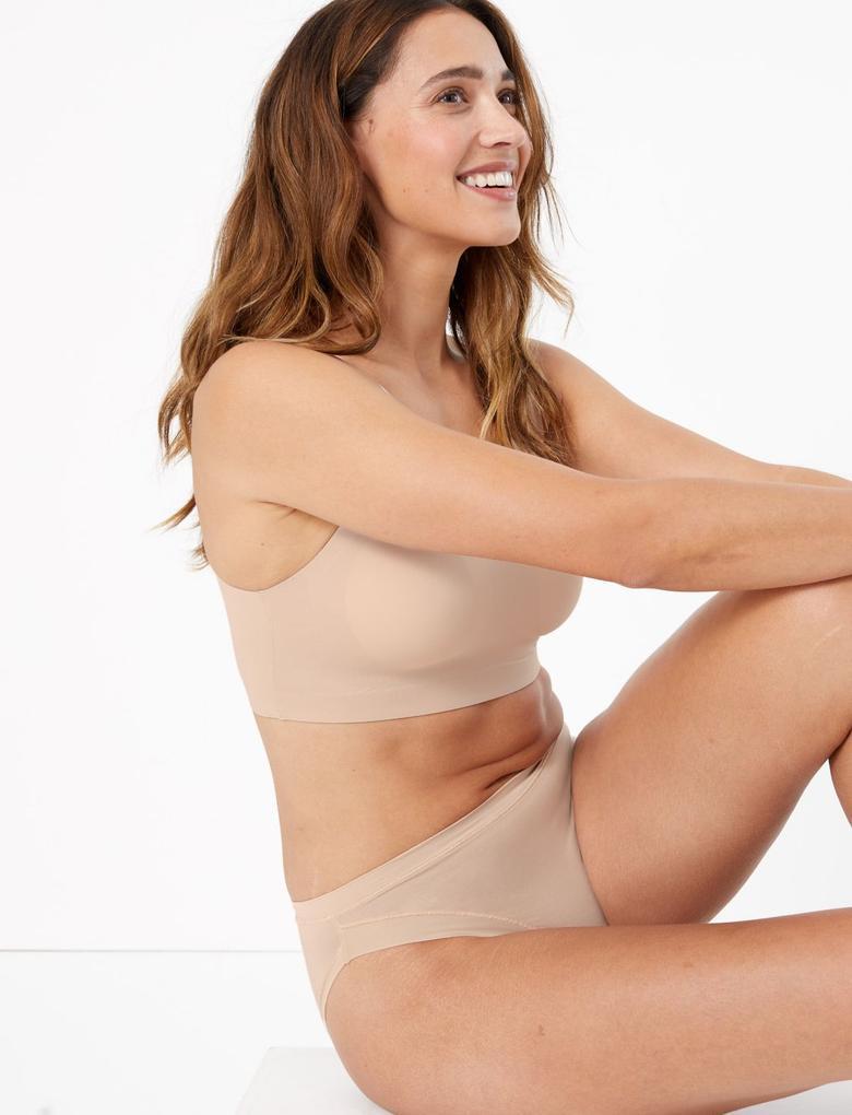Kadın Bej Flexifit™ Modal High Leg Külot