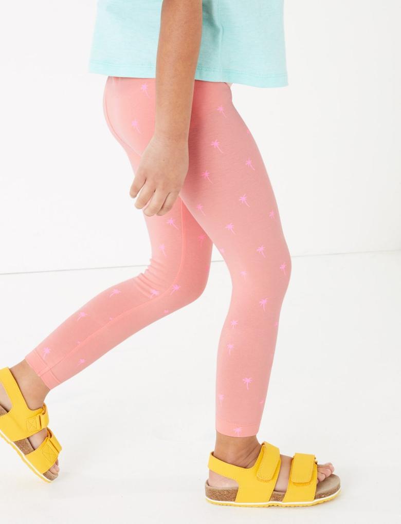 Kız Çocuk Multi Renk 5'li Pamuklu Tayt Seti