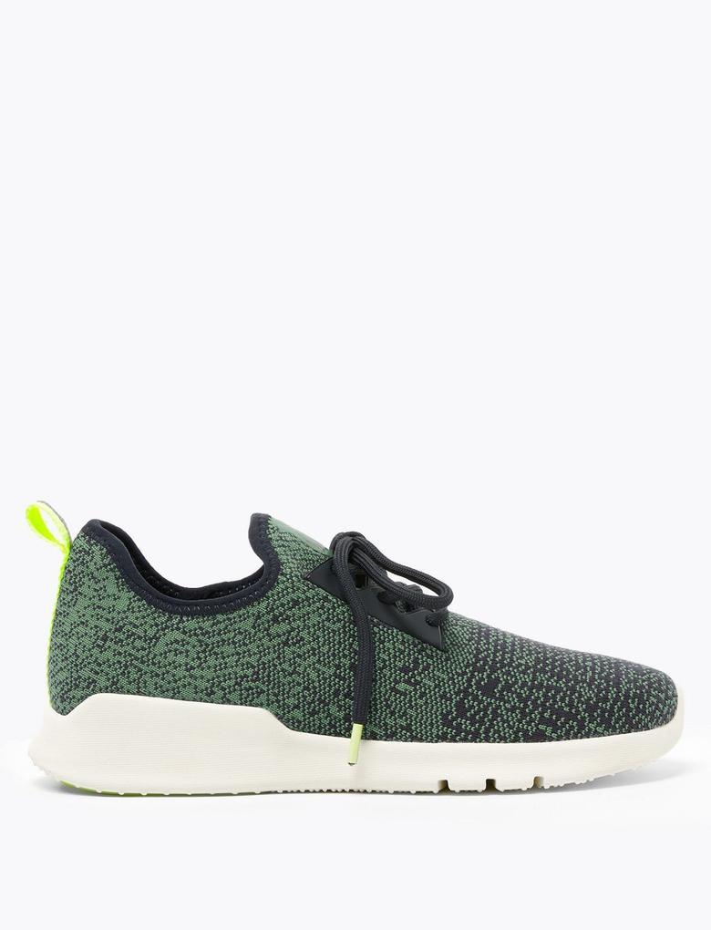 Kadın Yeşil File Spor Ayakkabı