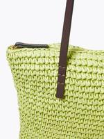 Kadın Sarı Hasır Shopper Çanta