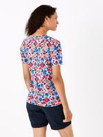 Kadın Mavi Desenli T-Shirt