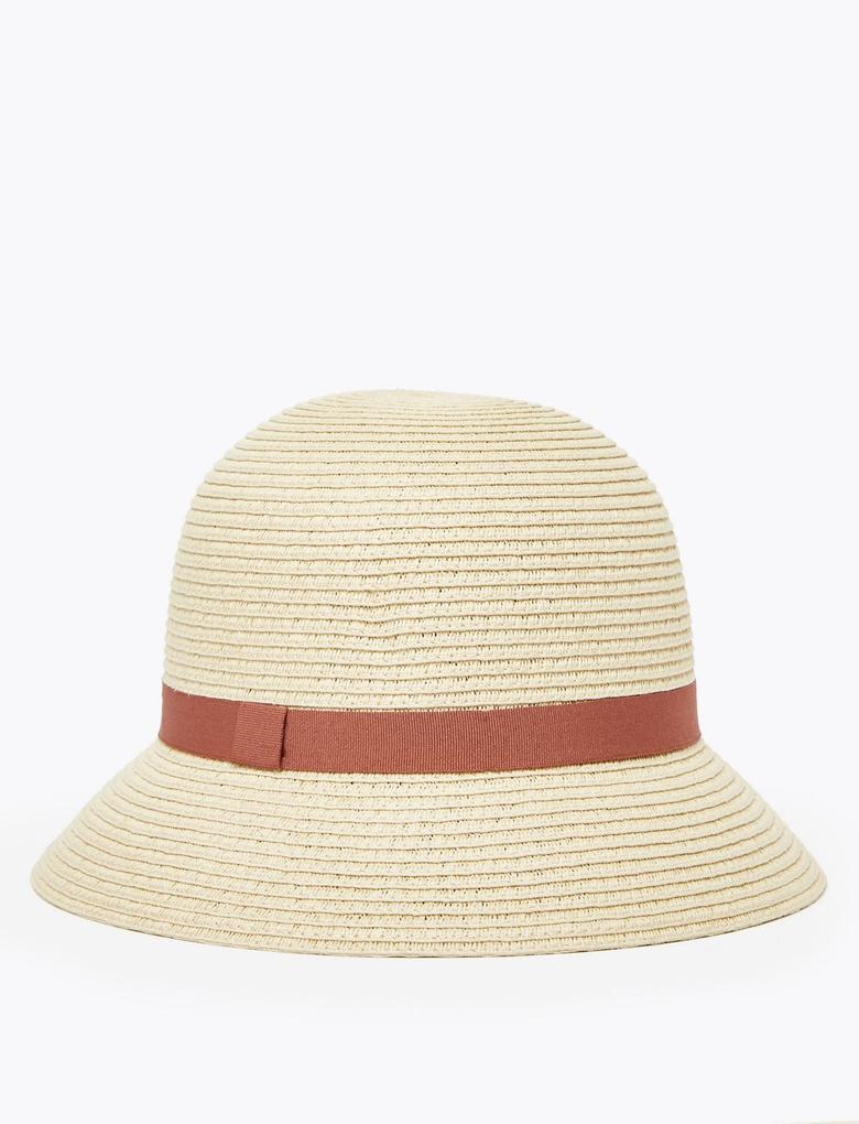 Kadın Bej Hasır Şapka