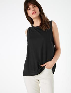 Kadın Siyah Pamuklu Bluz