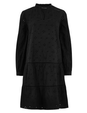 Kadın Siyah Uzun Kollu Elbise