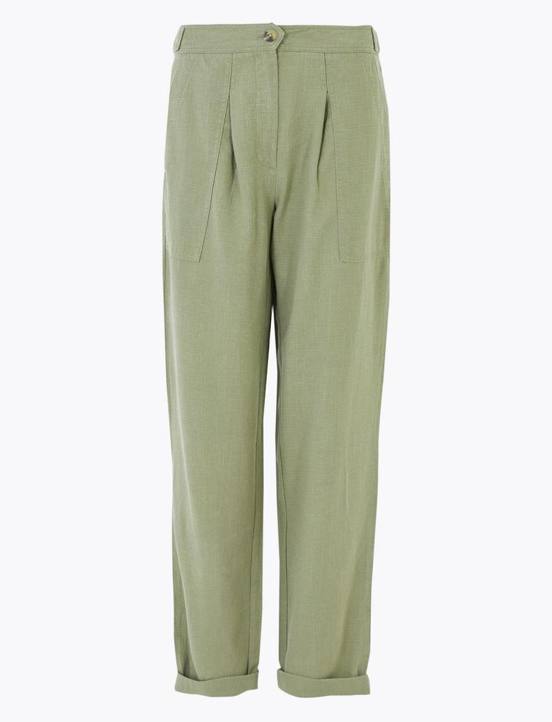 Yeşil Tencel™ Kargo Ankle Grazer Pantolon