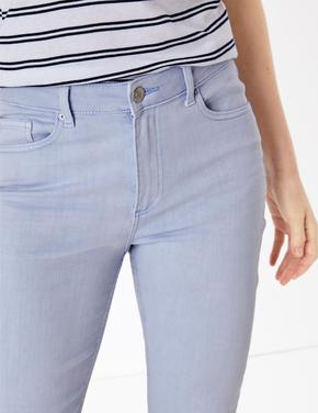 Kadın Mavi Slim Leg Jean Pantolon