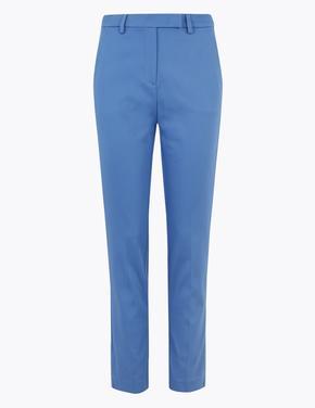 Kadın Mavi Mia Slim Crop Pantolon