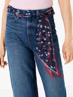 Kadın Lacivert Şal Bağlamalı Yüksek Bel Wide Leg Pantolon