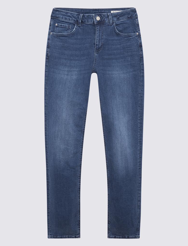 Kadın Mavi Straight Fit Pantolon
