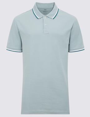 Yeşil Kısa Kollu Polo Yaka T-Shirt