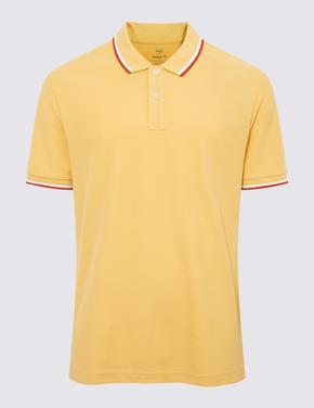 Sarı Kısa Kollu Polo Yaka T-Shirt