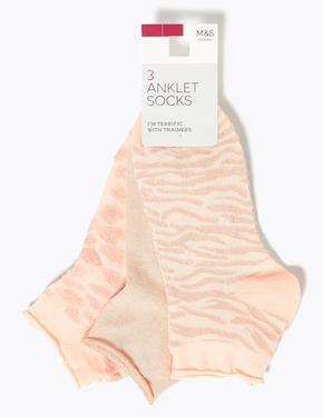 Kadın Multi Renk 3'lü Soket Çorap Seti