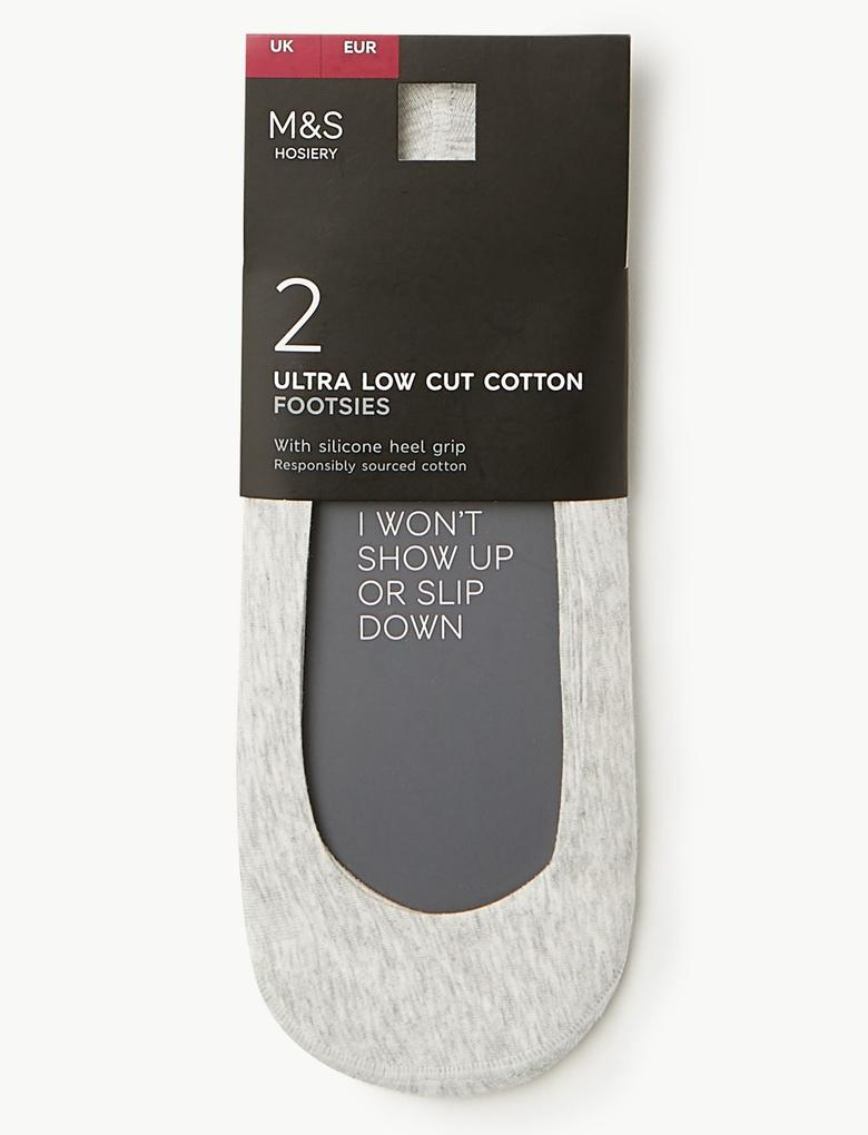 Kadın Gri 2'li Babet Çorabı Seti