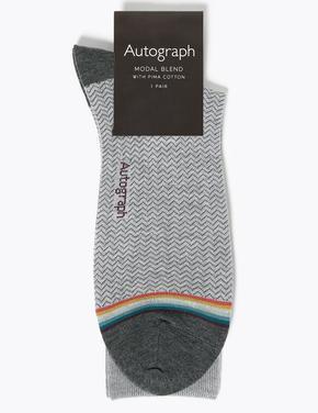 Erkek Siyah Modal Karışımlı Çorap